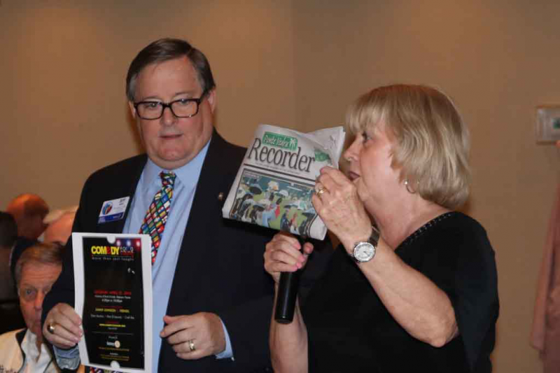 Jeff and Janeene Hart from the PV Sunset Rotary share news about their upcoming fundraiser