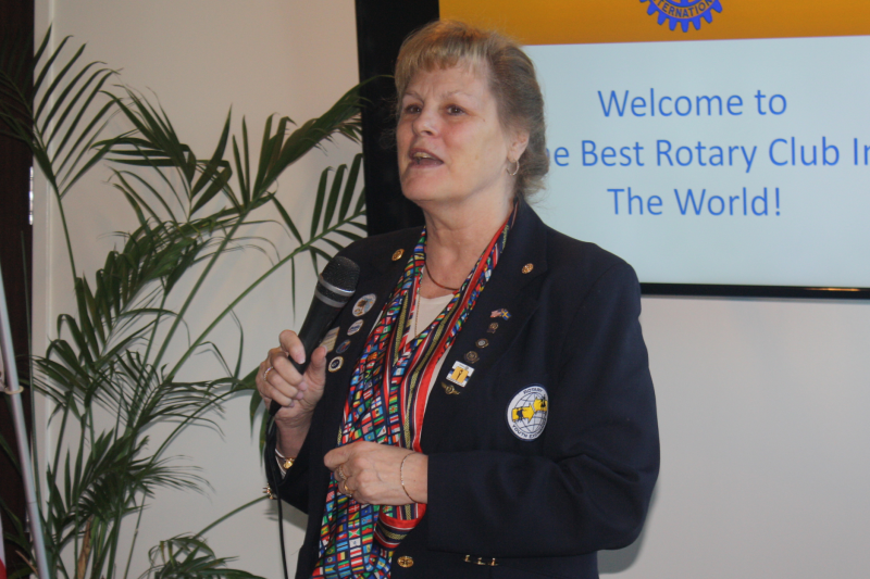 Paula Roderick shares news on the Rotary Youth Exchange program